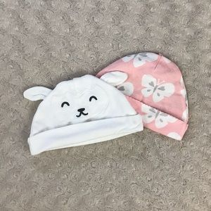 Carter's Baby Girl Hats Lamb Butterfly 6 Months